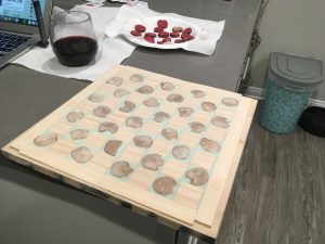 diy project oak inlayed checkers board sanded