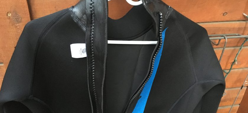 tool dip on a wet suit