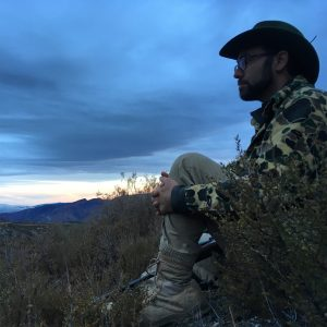 hunter in camo in angeles national forest