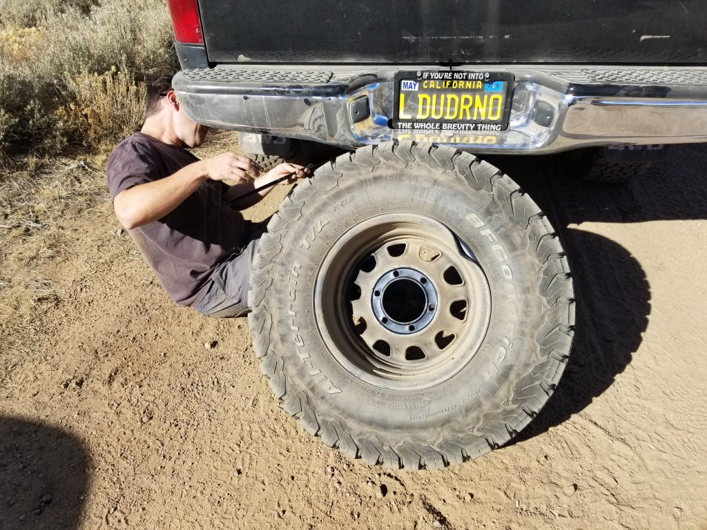 bending a rim while off roading