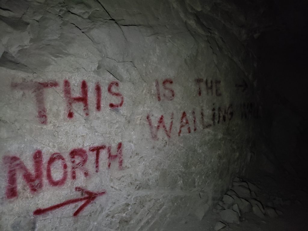 kochberg adit writing on wall