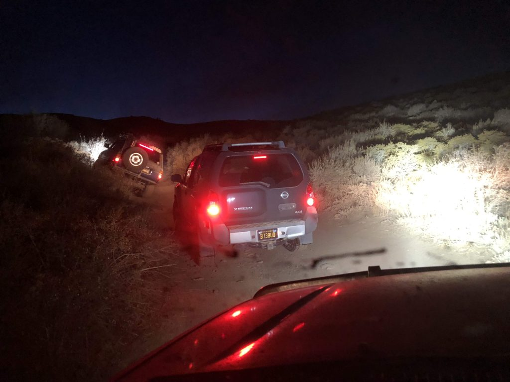 offroading at night