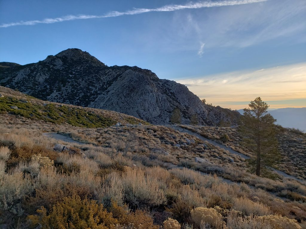 eastern sierras in the morning