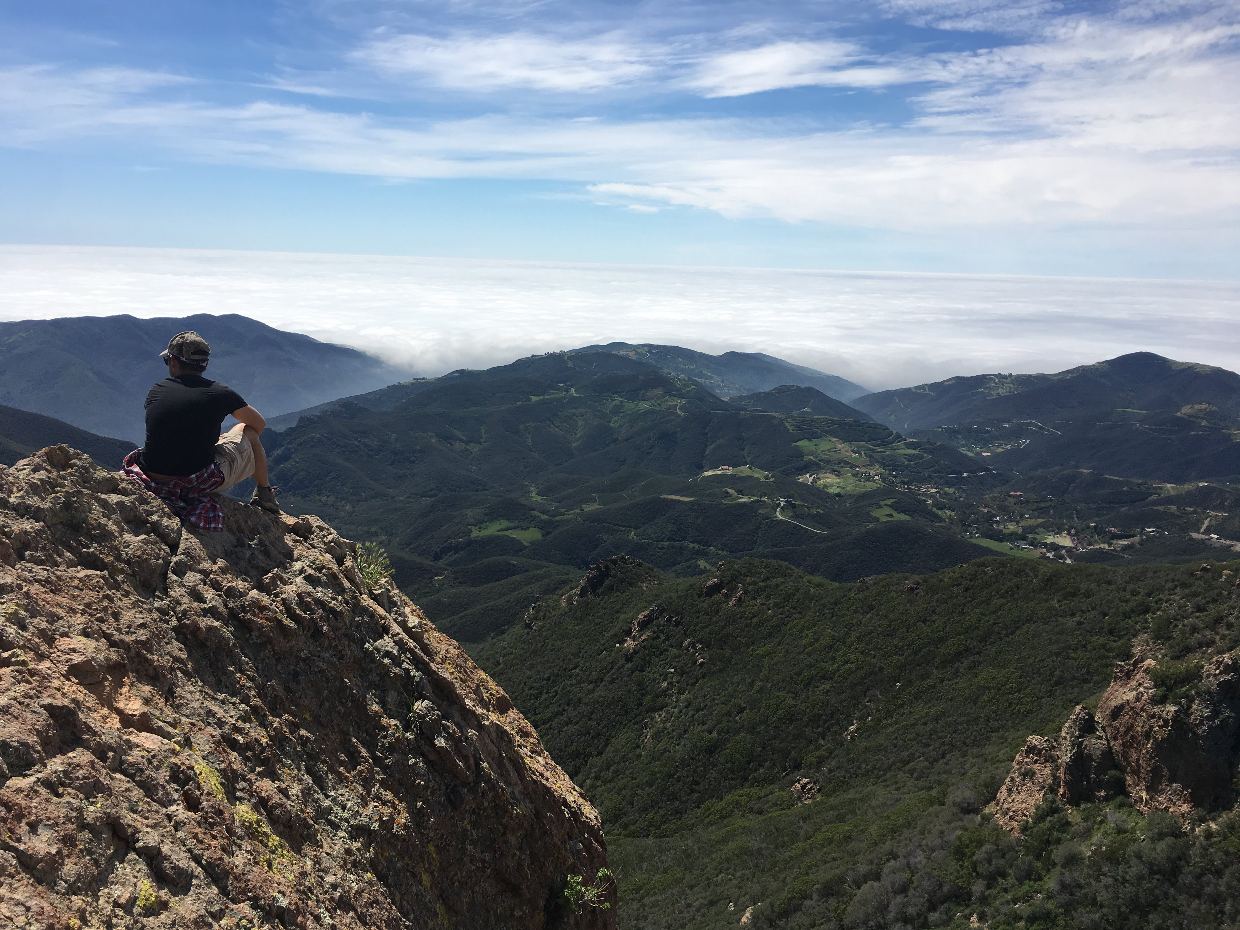 day hiker on mountain