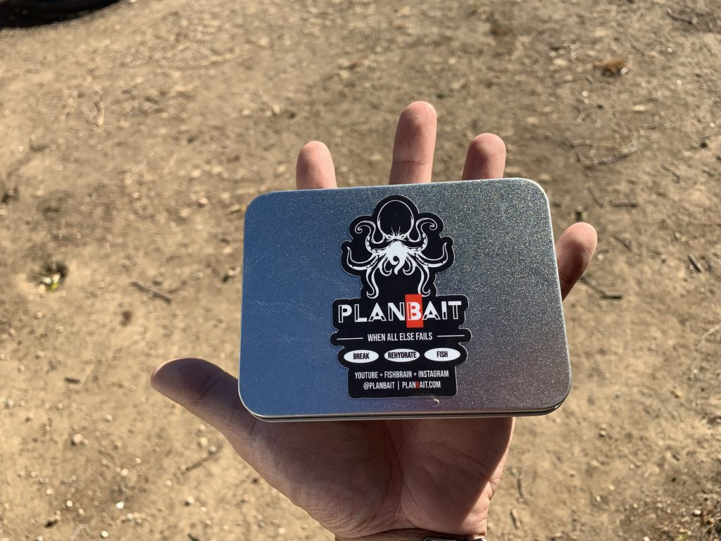 plan bait survival fishing tin