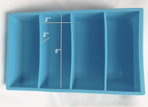 resin mold for knife handles and gun scales. 2in by 2in by 5in