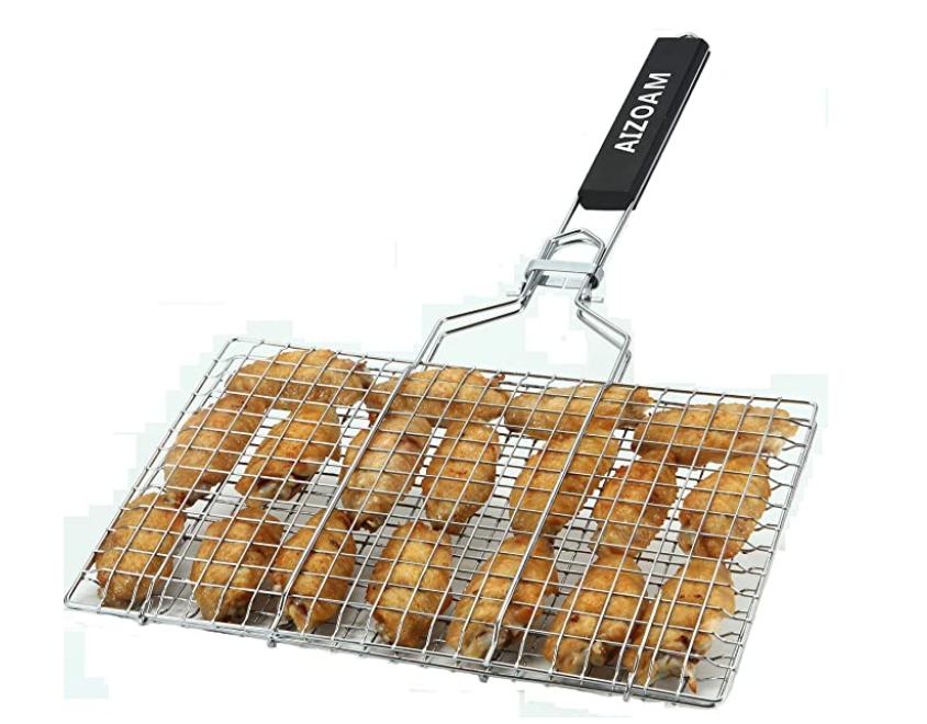 camp fish grilling basket