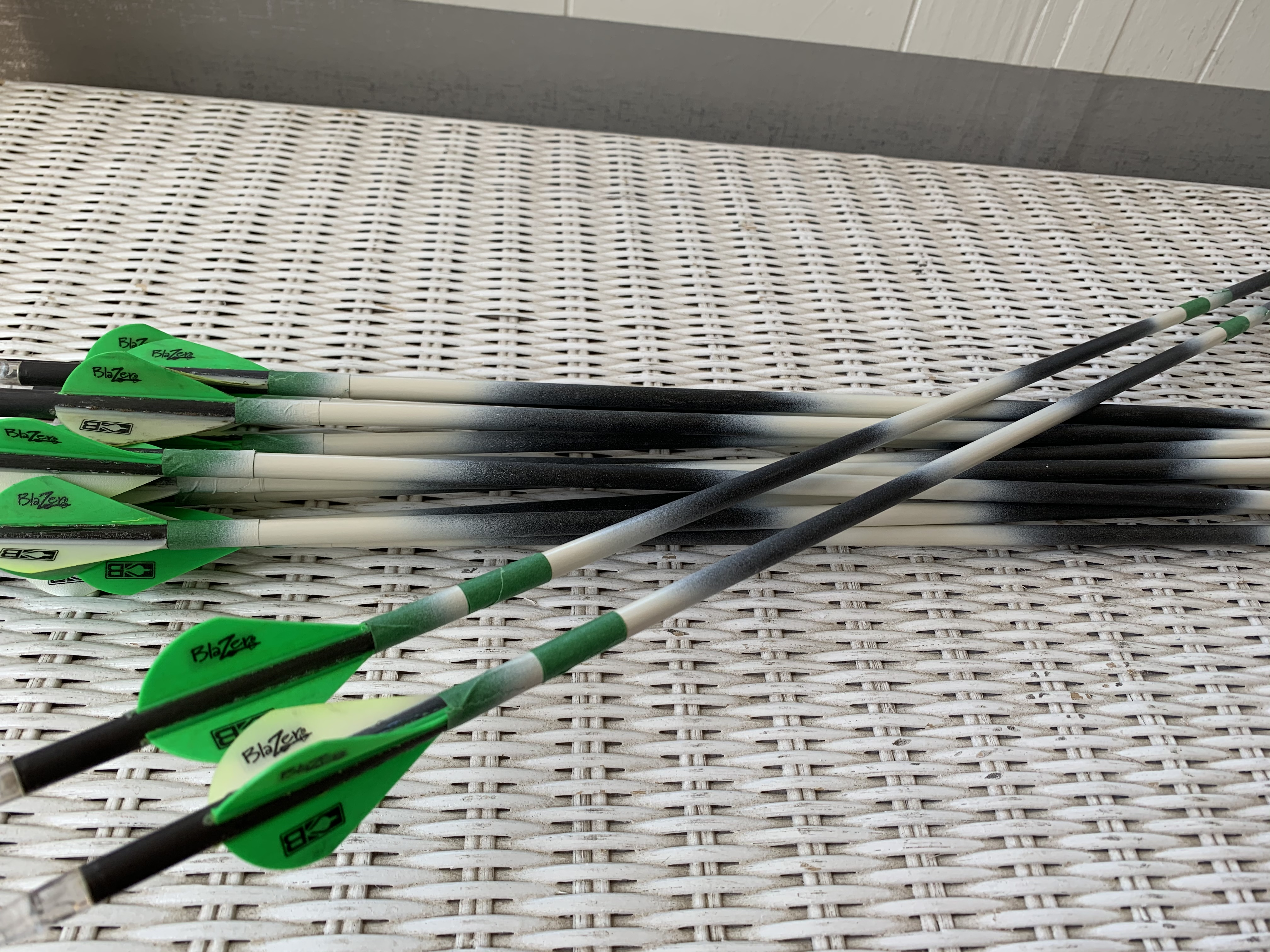 taping over spray paint on arrows